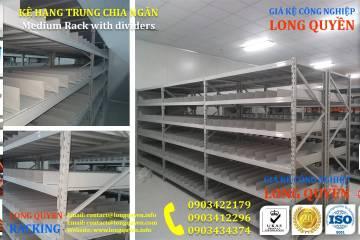 Giá kệ trung tải kệ hạng trung chia ngăn kho hàng công ty Thìn Oai (4)