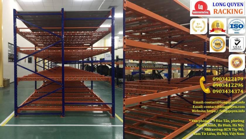 Giá kệ con lăn dòng chảy giá kệ trôi lắp đặt tại công ty Sumi Việt Nhật (12)
