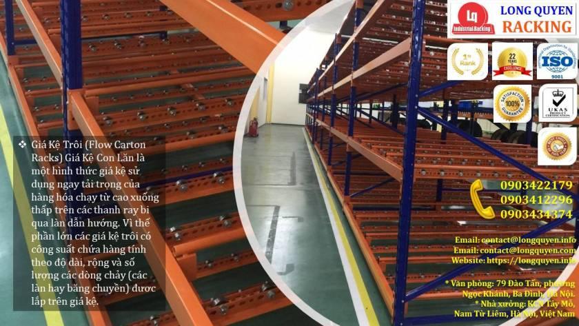 Giá kệ con lăn dòng chảy giá kệ trôi lắp đặt tại công ty Sumi Việt Nhật (5)