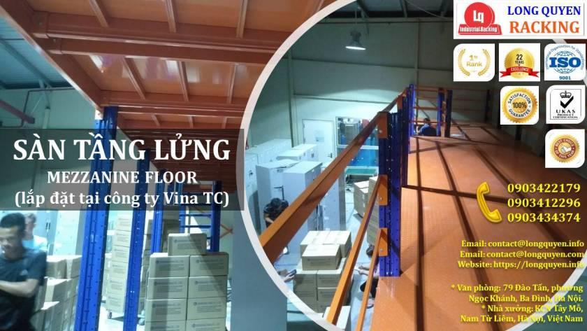 Kệ sàn kho sàn tầng lửng mezzanine san kho lắp ráp công ty Vina TC (2)