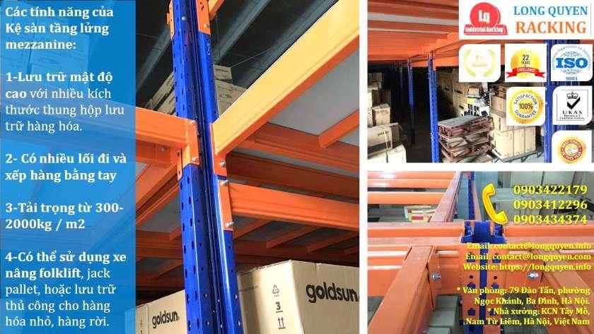Kệ sàn tầng lửng lắp đặt tại kho hàng công ty Goldsun (4)