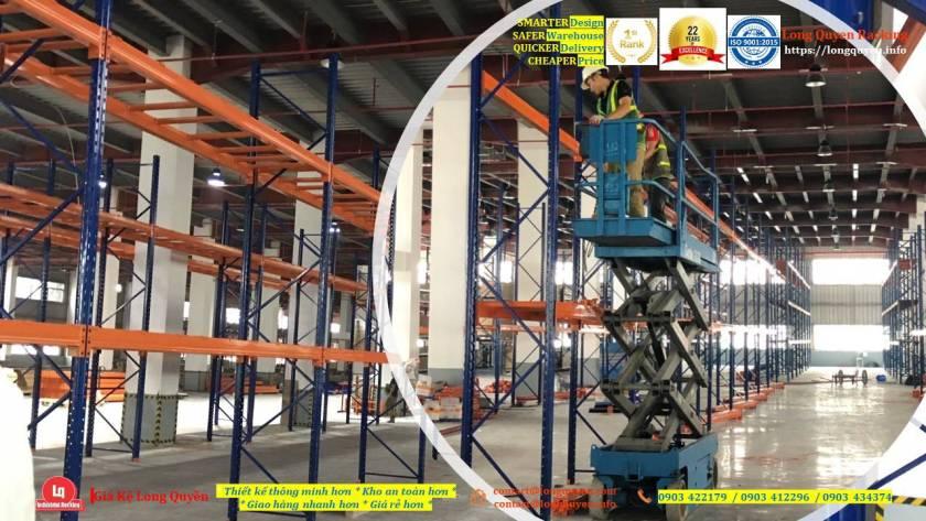 Kệ selective kệ sắt pallet lắp đặt tại kho hàng công ty An Phát (12)
