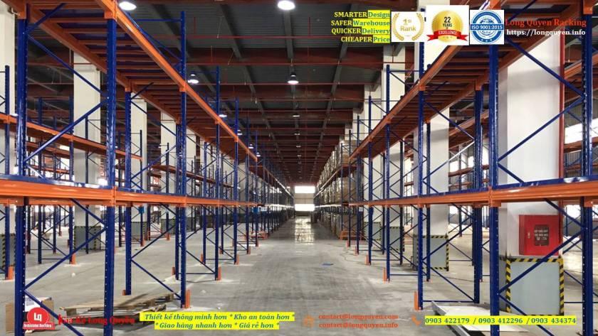 Kệ selective kệ sắt pallet lắp đặt tại kho hàng công ty An Phát (2)