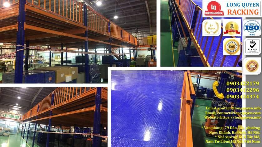 Sàn gác lửng bằng sắt, sàn gác xép lắp ráp tại kho Cty Kim Khí HN (11)