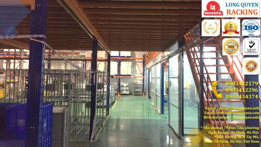 Sàn gác lửng bằng sắt, sàn gác xép lắp ráp tại kho Cty Kim Khí HN (3)