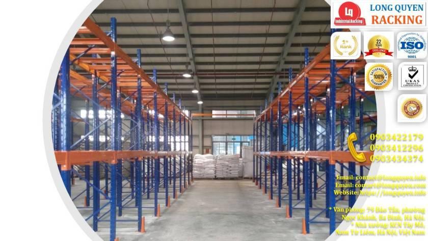 Kệ chứa hàng Selective tại kho hàng công ty Cadivi Bắc Ninh (2)
