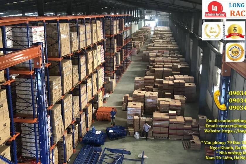 Kệ kho kệ Drive-In cao 10m lắp đặt tại công ty Sunhouse (2)