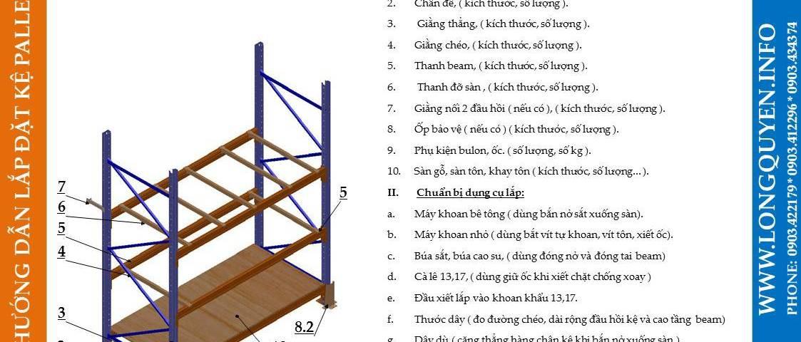 Hướng dẫn lắp đặt giá kệ pallet lựa chọn (pallet selective rack) (1)