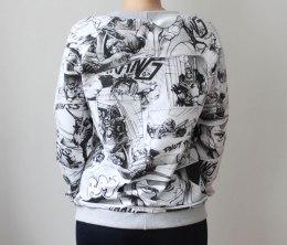 szycie na maszynie, szycie ubran, ubrania handmade, szycie bluzy, bluza z dresówki, szycie dresówki, bluza handmade, krawiectwo, blog o szyciu