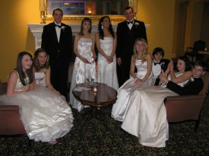 My cousins and I at the Hungarian Debutante Ball