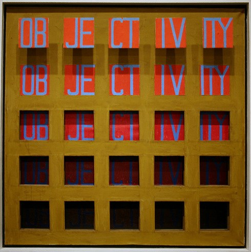 Objectivity, 1962, oil on canvas by Sol LeWitt. (Photo/Cliff | Creative Commons)