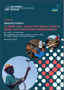 LCEDN Briefing Paper 2 Is there still a role for small wind in rural electrification?
