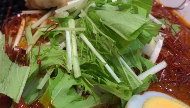 蒙古タンメン中本西池袋店で炎極 - 水菜