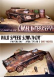 Paper model del diorama del coche Interceptor 2. Manualidades a Raudales.