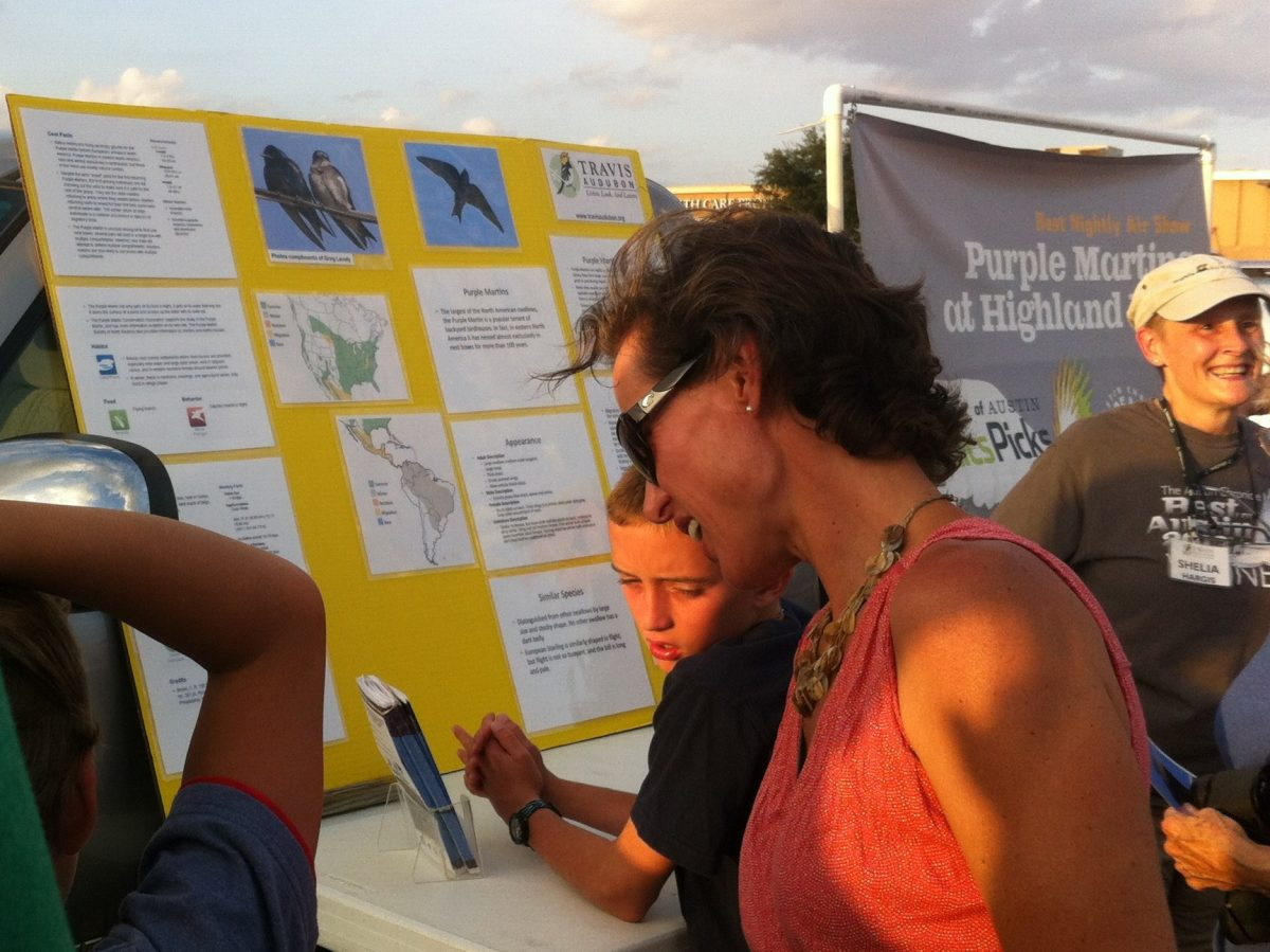 Travis Audubon Information center at last night's event