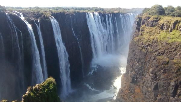 Magnificent Victoria Falls, seen from the Zimbabwean side.