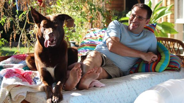 Bundy and Ian in Perth, Western Australia