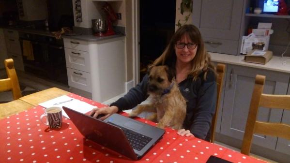 "Hamish helps Vanessa prepare content for Issue 1 of ""House Sitting Magazine"""