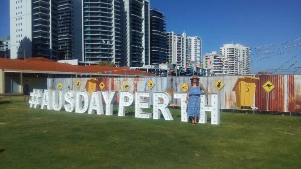 Australia Day (26th Jan) on the riverfront in Perth