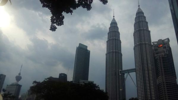 The Petronas Towers, at one time the tallest buildings in the world. A short stopover in Kuala Lumpur, Malaysia