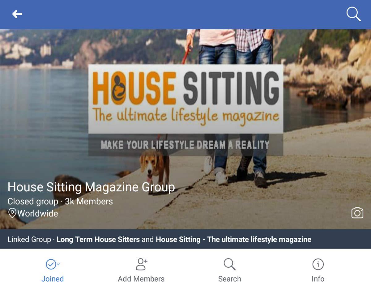House Sitting Magazine Group on Facebook