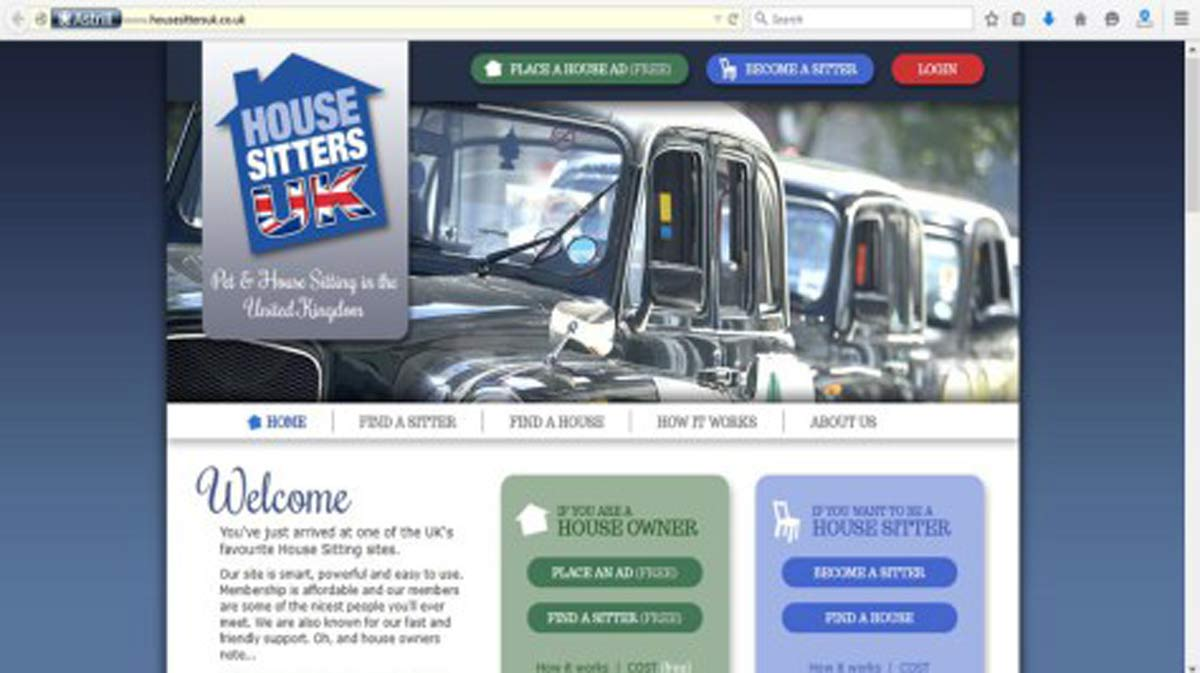 House Sitters UK Website