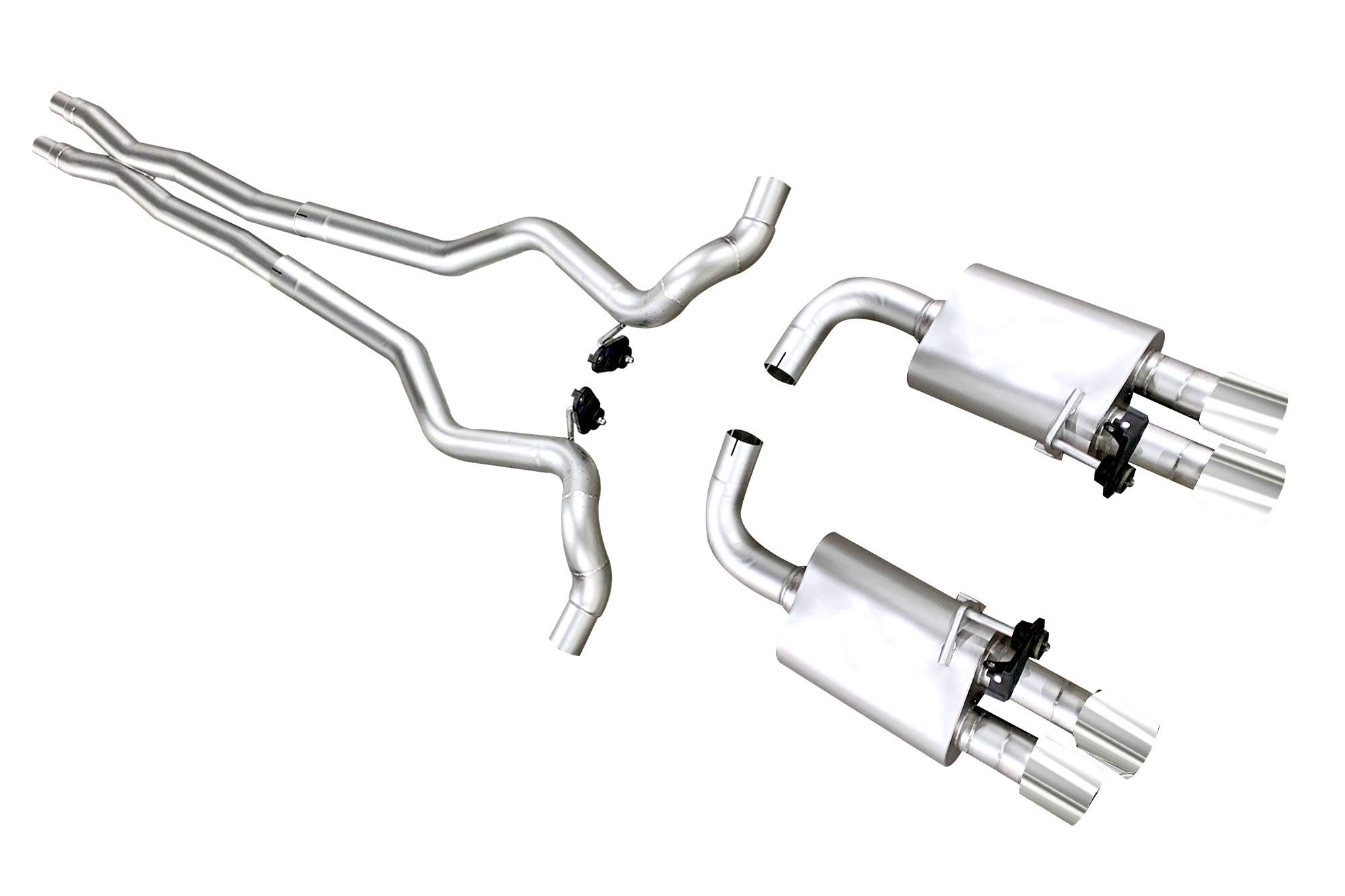 ford mustang gt 18 20 true dual s550 cat back exhaust system
