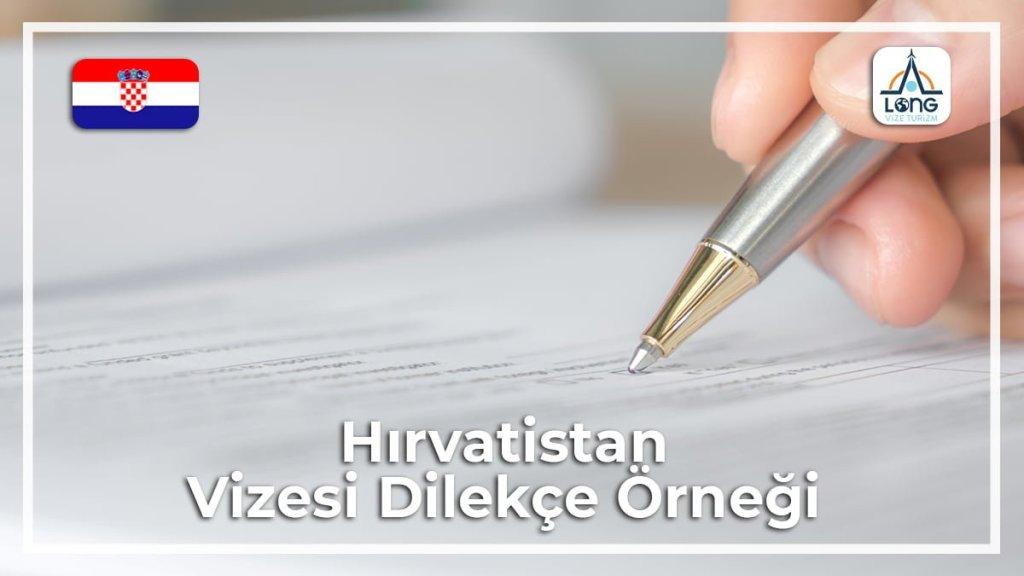 Vizesi Dilekçe Örneği Hırvatistan