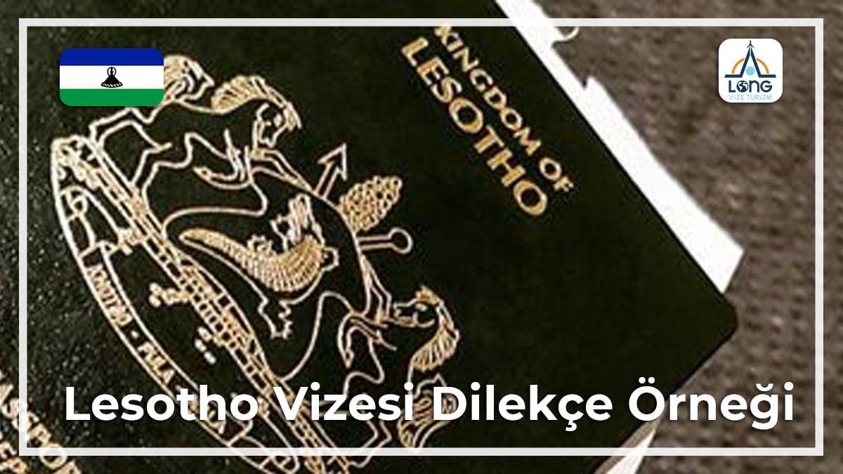 Vizesi Dilekçe Örneği Lesotho