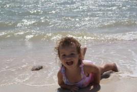 Ayda at the beach