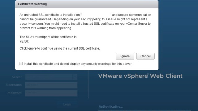 vSphere Web Client SSL Cert not updated after vCenter SSL Cert Changed