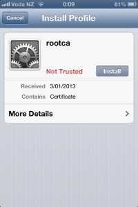 Installing Corporate CA Certificates on iPhone or iPad for