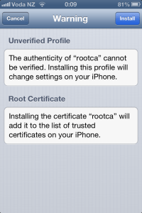 Installing corporate ca certificates on iphone or ipad for use view cert install p2 yadclub Gallery