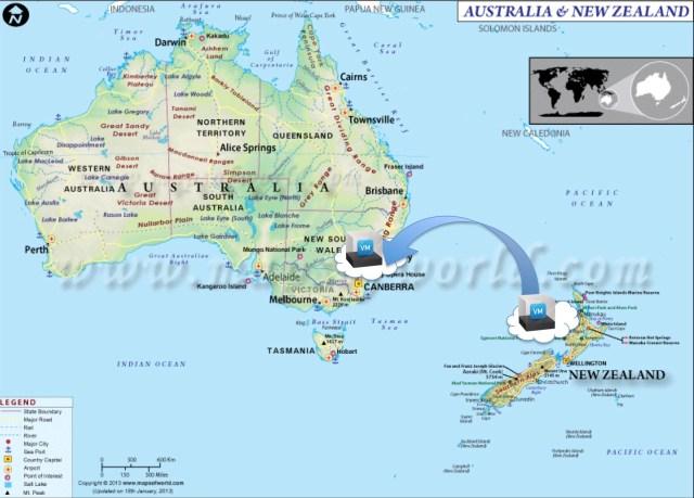 Cloud Migrate NZ to Australia