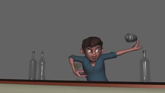 Long Winter Studios character rig Cody featured in an animation sequence by Andrew Rau on YouTube.