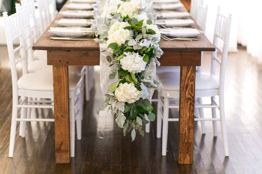 vintage wedding - live table runner