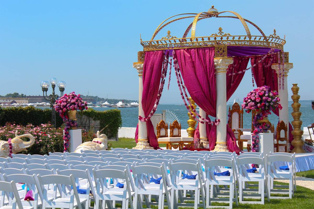 large event venue newport rhode island indian wedding waterfront