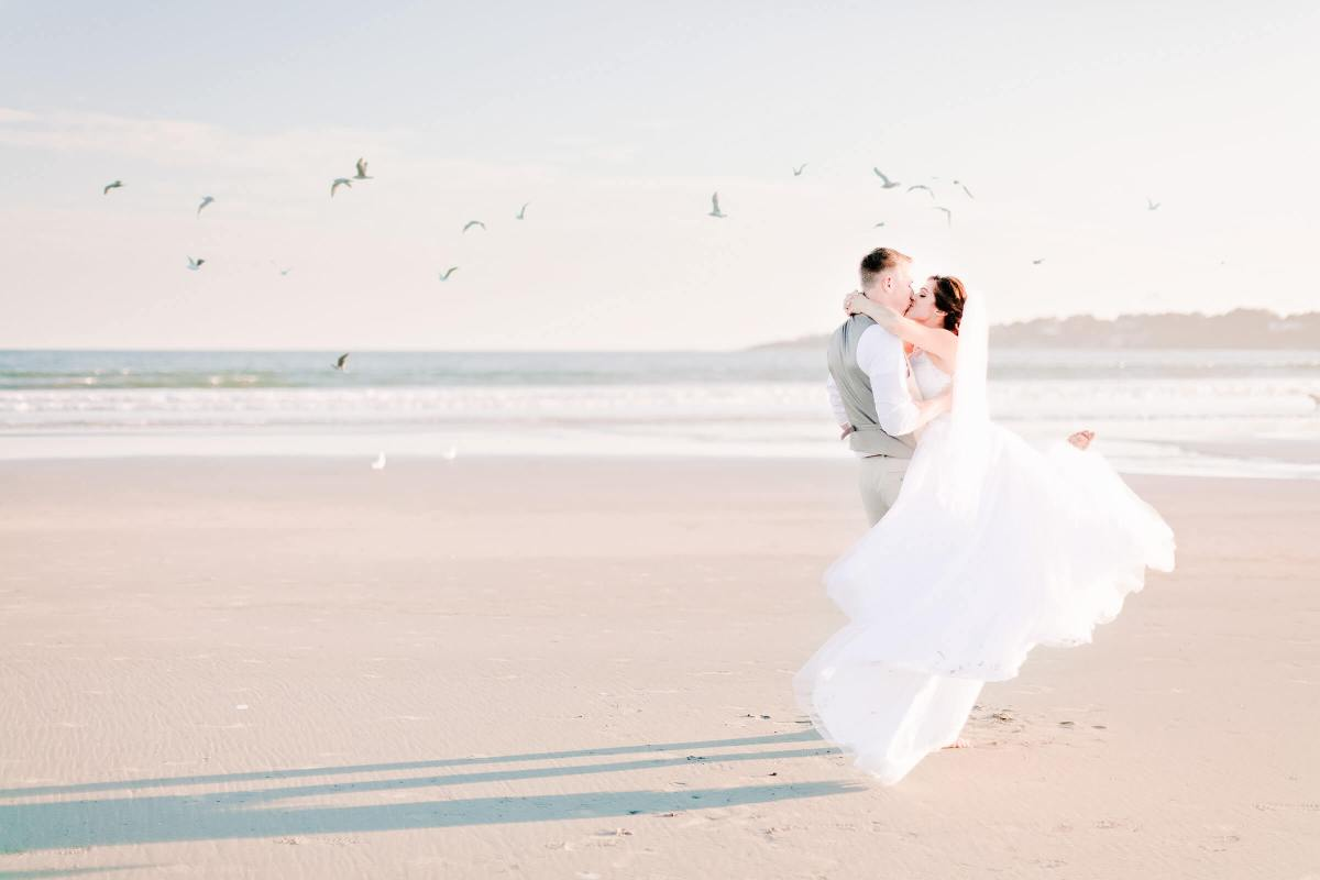 Newport Rhode Island Wedding Beach by Irena Mandel Photography