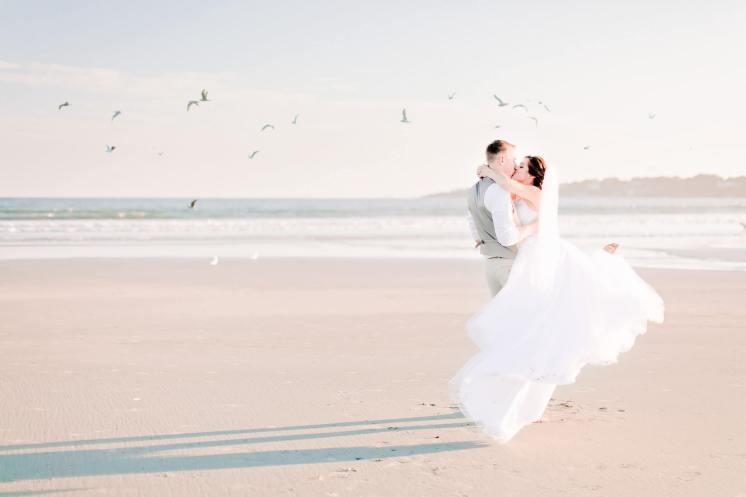 Newport Rhode Island Wedding Beach by Irena Mandel Photography
