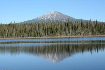 Mt. Bachelor over Elk Lake