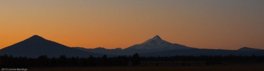 Black Butte and Mt. Jefferson at sunset