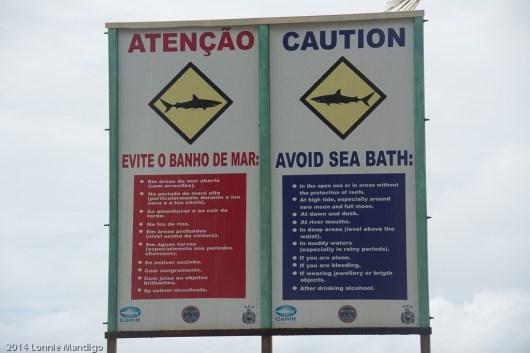 On the beach in Recife