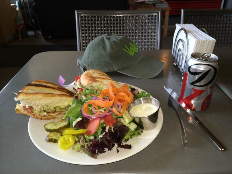 Lunch at Soldier Creek Brewing Company, Fairfield, ID.
