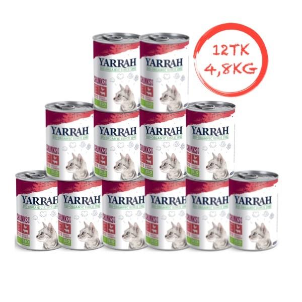 Orgaaniline kassikonserv loomaliha ja kanaga YARRAH 12x405g (plokk)