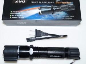 Lampara led con descarga electrica toques y laser