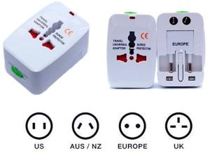 Adaptador Cargador de pared de viaje travel CA. AU. UK. EE. UU. UE