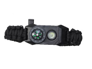 Pulsera paracord supervivencia ajustable y con luz led