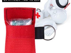 Mascara CPR resucitador portatil en llavero desechable