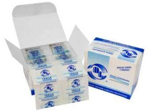 Toallitas Alcoholadas para sanitización de areas comunes o personal.