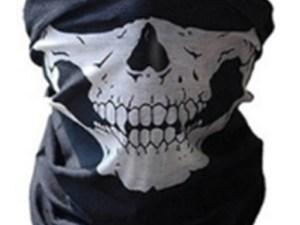 Balaclava Mascara negra Calavera Bandana Militar Tactico Moto Gotcha